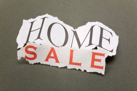 housing problems: home for sale sign, Real Estate Marketing Concept