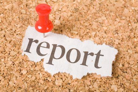 Headline report, concept of report Фото со стока
