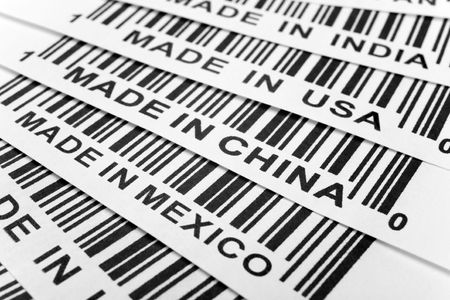 barcode, trade war, business concept photo