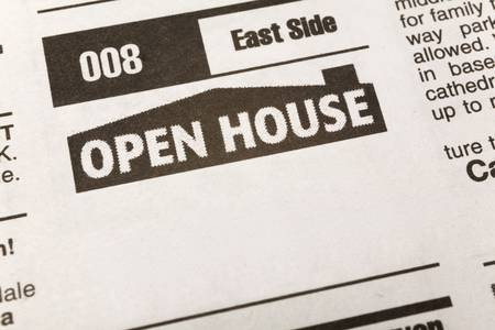newspaper Classified Ad, Open House, Real Estate concept Imagens - 2773653