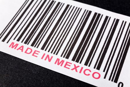Made in Mexico and barcode, business concept photo