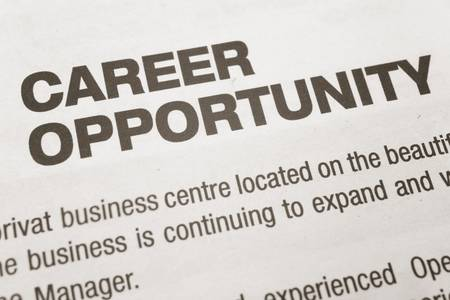 newspaper Career Opportunity ad, Employment concept