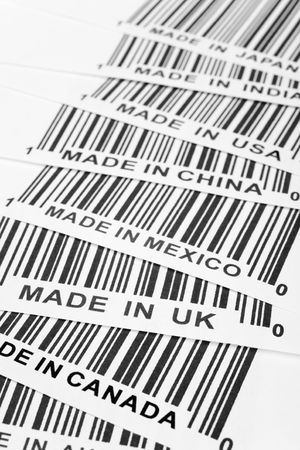 barcode, trade war, business concept Stock Photo