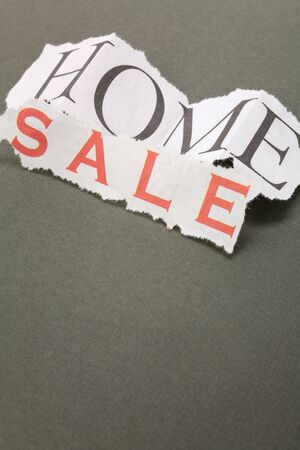 home for sale sign, Real Estate Marketing Concept Stock Photo - 2815208