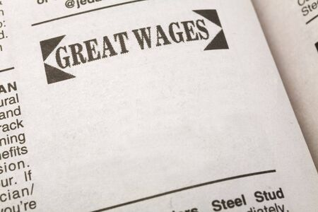 신문 고용 광고, 그레이트 임금, 고용 개념
