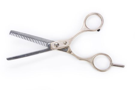haircutting: Hair Thinning Scissors with white background