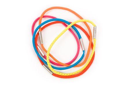 kleur rubber band close up shot