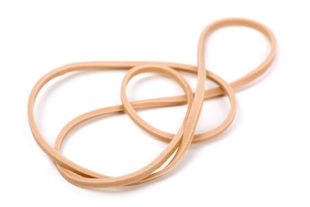 Rubber Band with white background 版權商用圖片