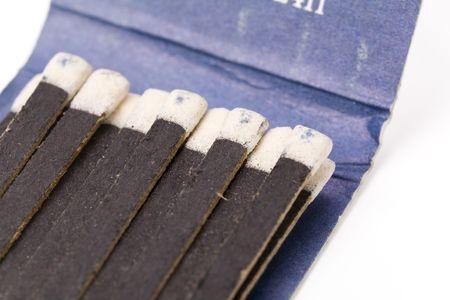 a matchbook close up shot