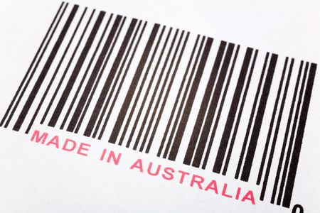 Made in Australia and barcode, business concept Stock Photo - 2862049