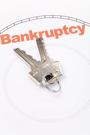 home key and bankruptcy, Real Estate Marketing Concept Imagens