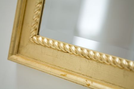 mirror frame: Classic mirror frame close up shot