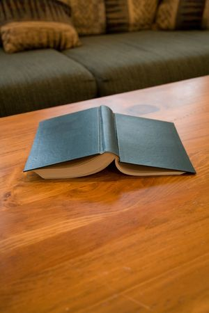 book and coffee table close up shot Stok Fotoğraf