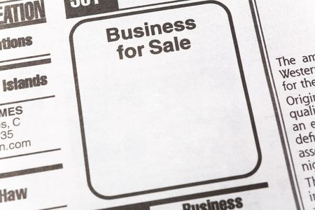 Business for Sale, newspaper Sales ad,  Business concept Imagens