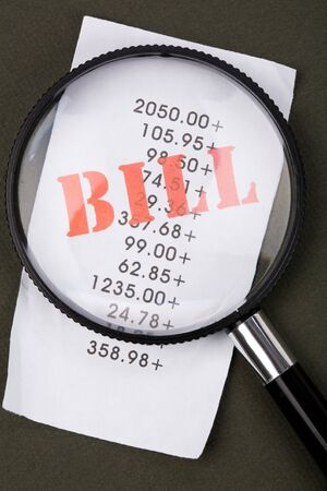 bills Close up shot, financial concept photo