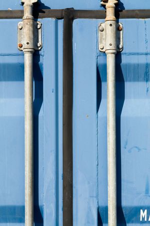 blue container close up shot Stock Photo - 3026364