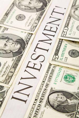 投資と米国ドルの見出し