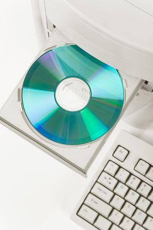 Desktop Computer and CD-ROM Drive close up shot photo