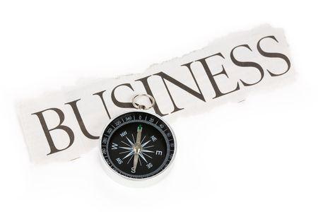ビジネスとコンパス、意思決定の概念を見出し