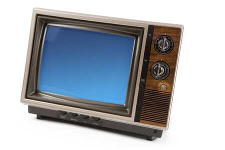 Old-fashioned Television with white background Reklamní fotografie
