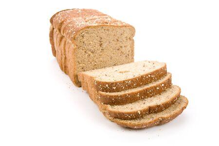 ショットをすぐにスライスされたブラウン パン