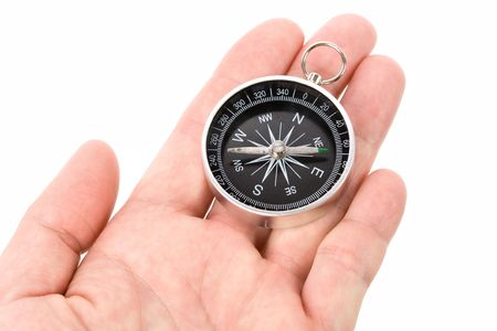 Black compass close up shot Stock Photo - 3142413