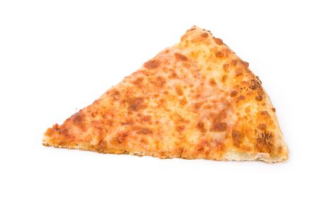 Cheese Pizza with white background, close up Stock Photo - 3178984