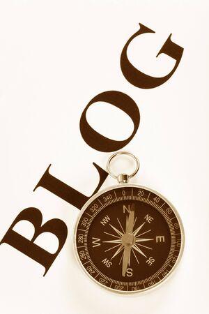 ブログとインターネット コンパス日記コンセプト 写真素材 - 3200180