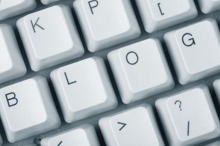 ブログとコンピュータ キーボード、インターネット日記コンセプト 写真素材 - 3230586