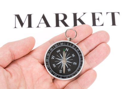 headline market and Compass, concept of market choice