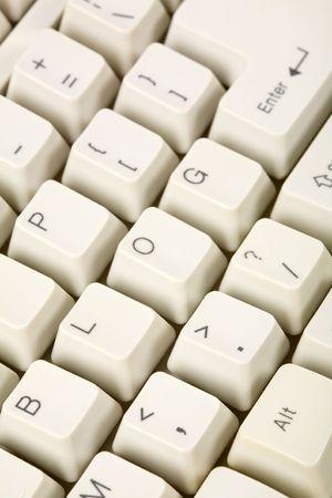 ブログとコンピュータ キーボード、インターネット日記コンセプト