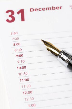Calendar agenda, schedule, close up shot for background photo