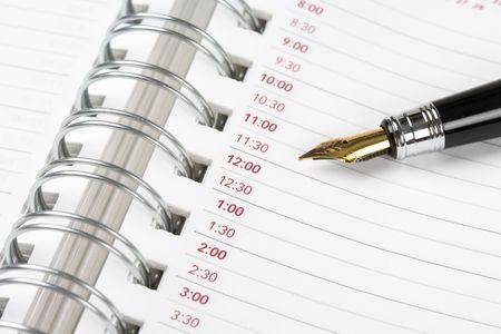 docket: Calendar agenda, schedule, close up shot for background Stock Photo