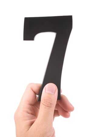 number 7 with white background photo