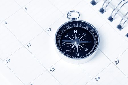 Calendar and compass, concept of time planning Stock Photo - 3325750