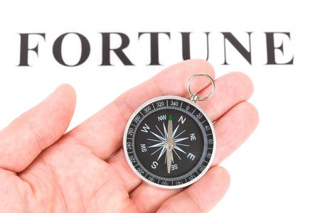 headline fortune and Compass, concept of choice Stock Photo - 3384417