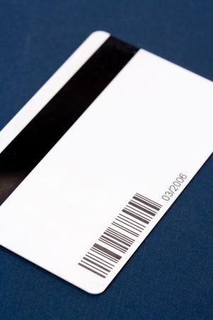 data: Plastic Digital Data Card close up