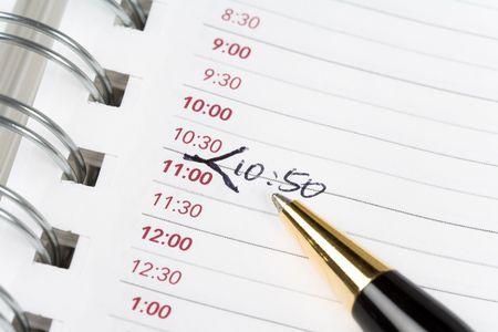 Calendar agenda, schedule, close up shot for background Фото со стока - 3369252