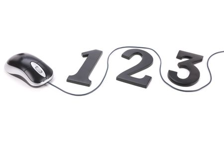 number 123 and  mouse, concept of easy learning photo