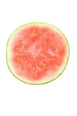 seedless: Seedless Watermelon with white background Stock Photo