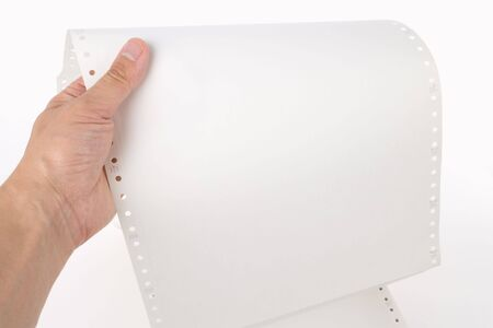 perforated: Perforated Computer Paper for background