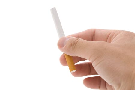 A Cigarette with white background Imagens
