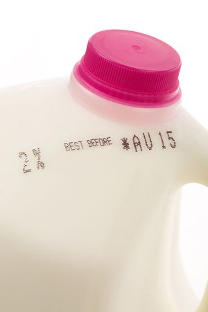 Milk Bottle close up for background Stock Photo