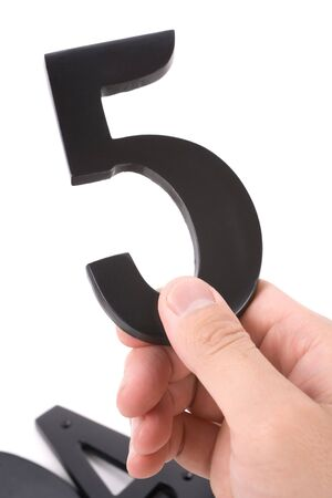 number 5: number 5 with white background