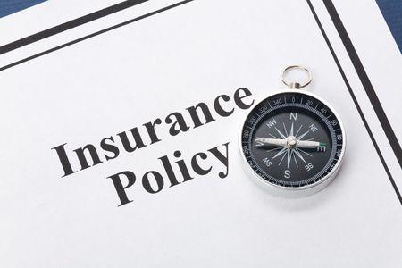 Document de police d'assurance, de la vie, la santé, voiture, Voyage, pour arrière-plan  Banque d'images - 3502143