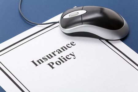 Document of Insurance Policy, Life; Health, car, travel,  for background Stock fotó - 3502141