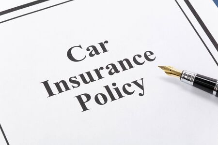 Document of Car Insurance Policy for background   photo