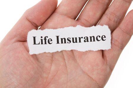 背景のための生命保険の見出し