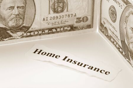 Headline of Home Insurance for background