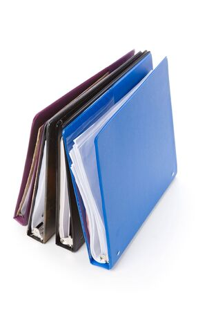 file folders, Ring Binder, with white background Zdjęcie Seryjne